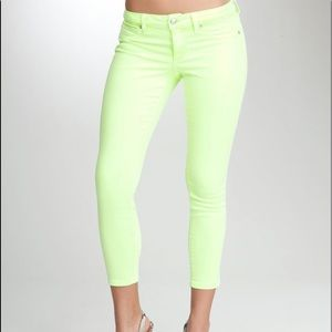 Bebe Neon ankle straight cropped jean